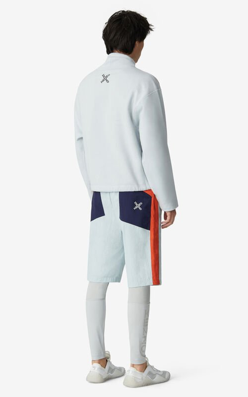 PALE GREY KENZO Sport sweatshirt for men