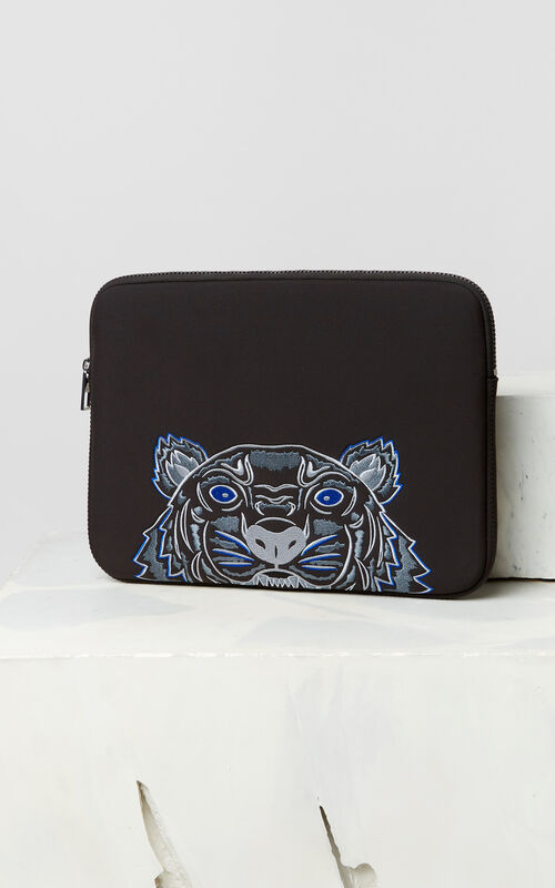 BLACK Tiger Computer Pouch for unisex KENZO