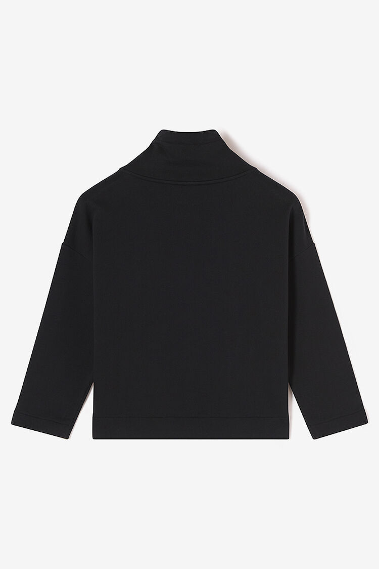 BLACK KENZO Signature cropped hoodie for women