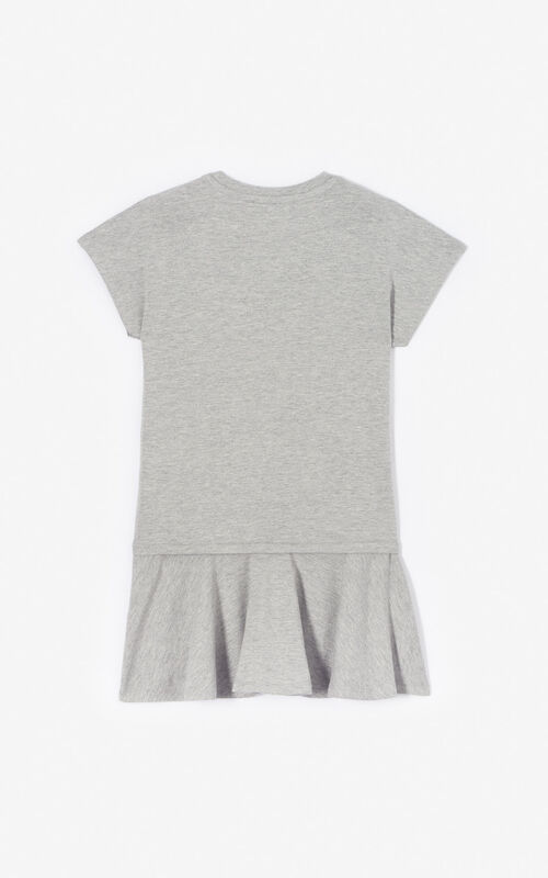 MIDDLE GREY Kenzo logo dress for women