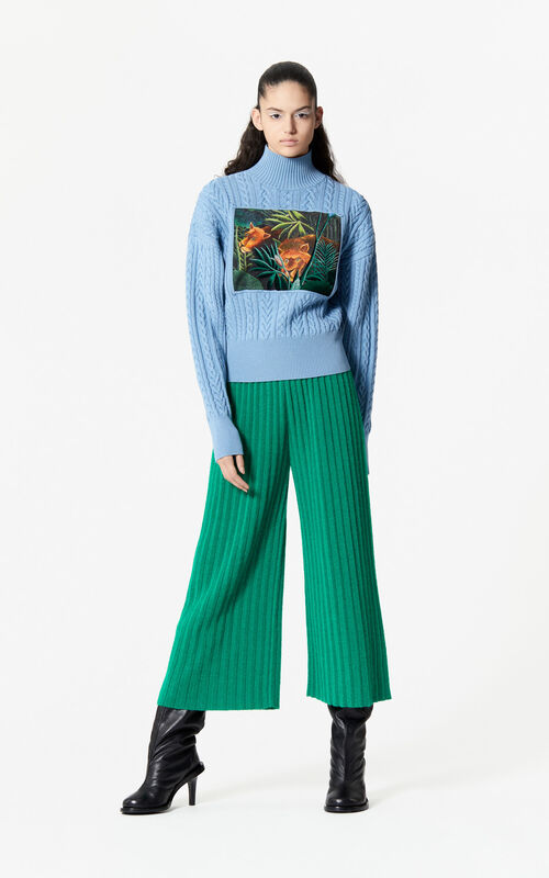 GRASS GREEN Knit culottes for women KENZO