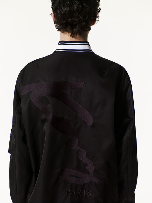 BLACK KENZO Signature Long Bomber for men
