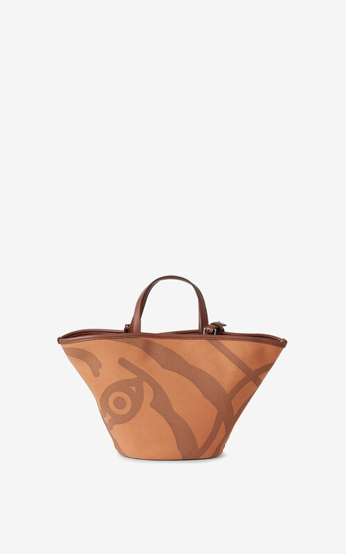 COGNAC KENZO Arc small tote on strap for unisex