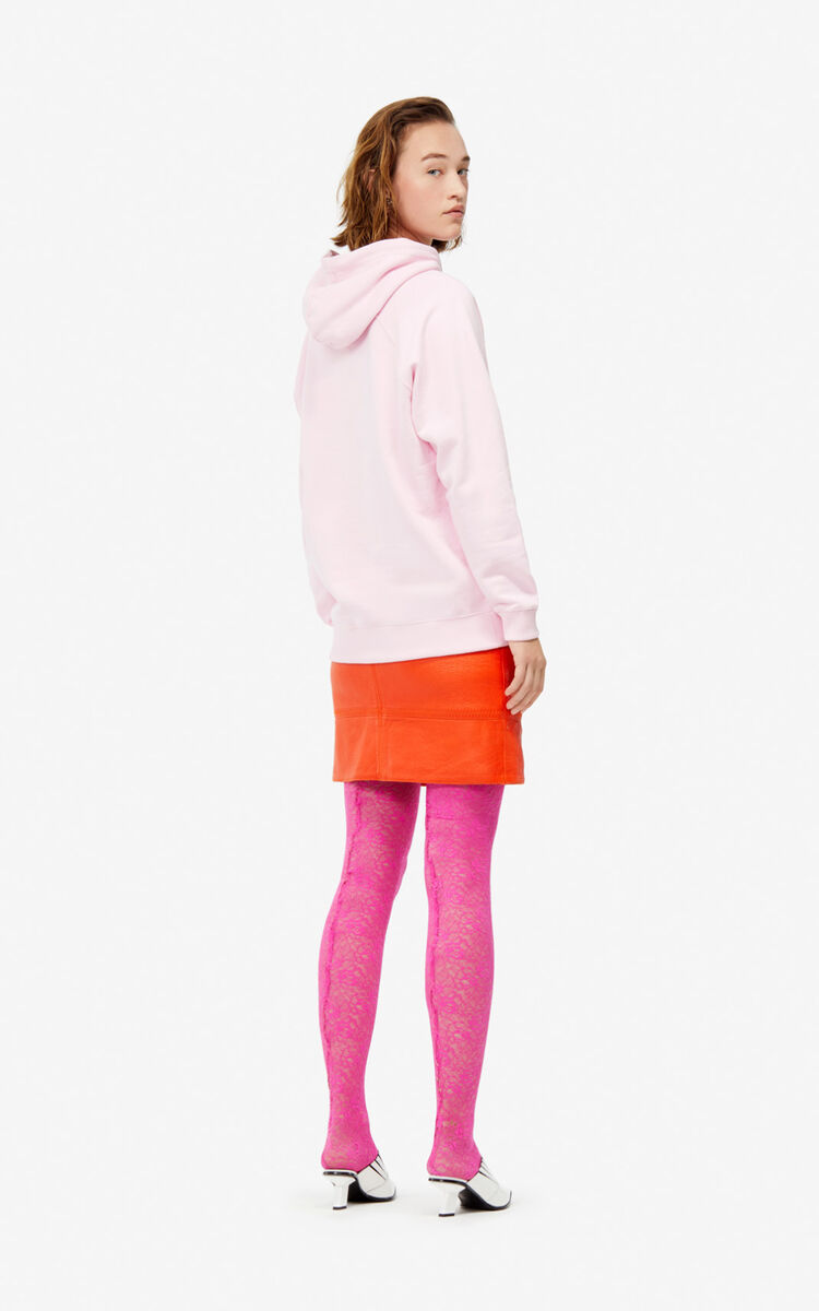 PASTEL PINK Two-tone Tiger hoodie for women KENZO