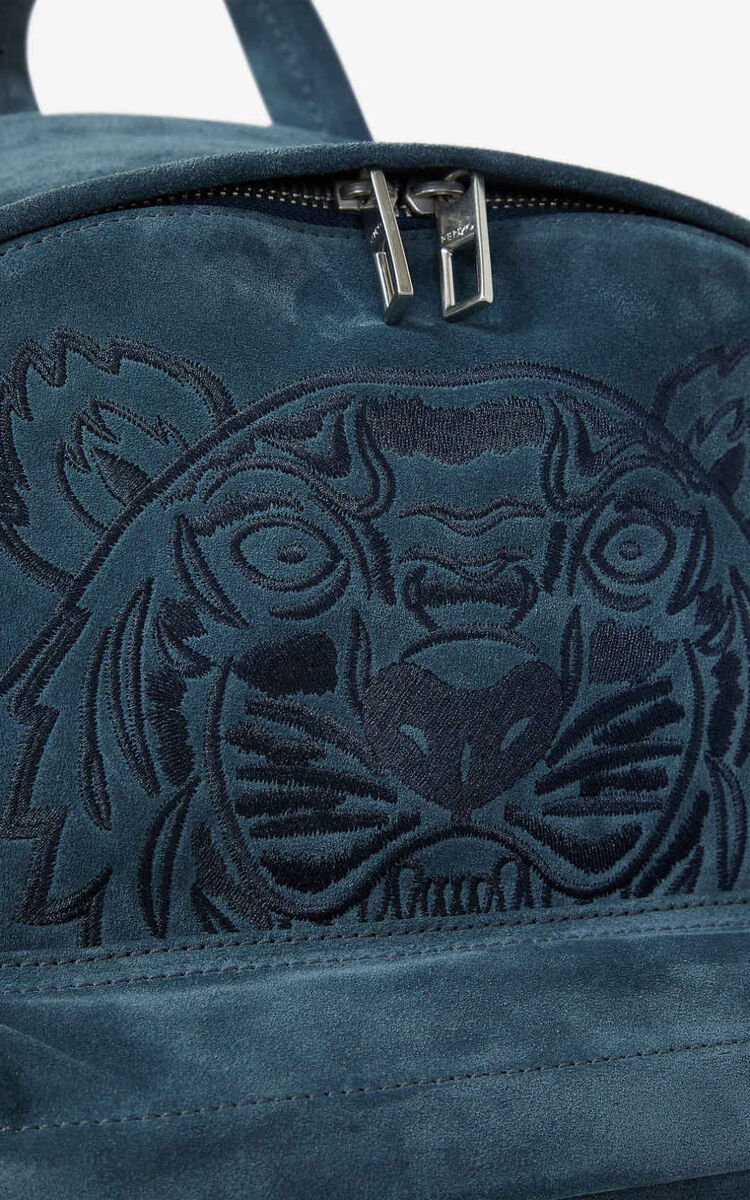 GLACIER Kampus Tiger suede backpack for unisex KENZO
