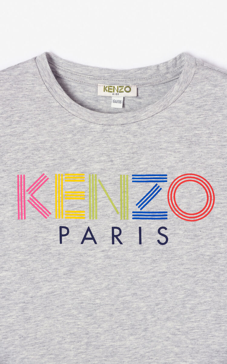 MIDDLE GREY KENZO logo T-shirt for women