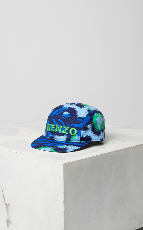 NAVY BLUE 'Tiger Stripes' cap for men KENZO