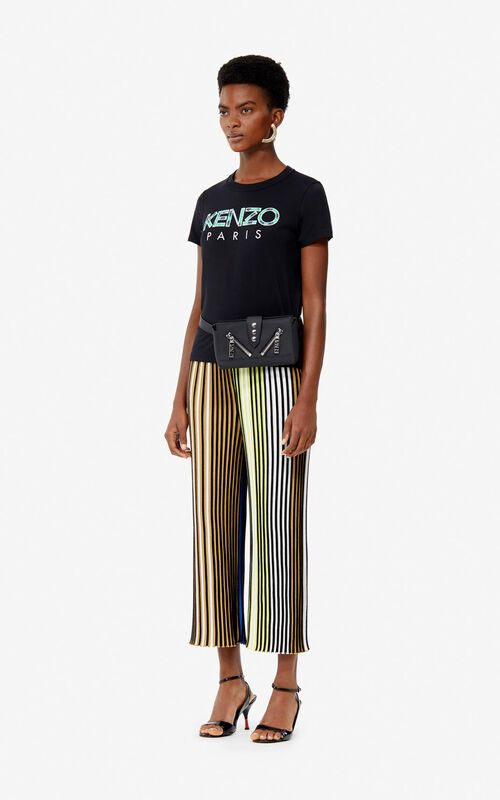 BLACK KENZO Paris 'Roses' t-shirt for women