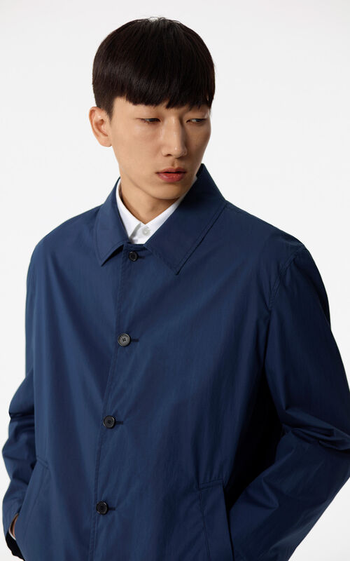 NAVY BLUE 'Hyper KENZO' waterproof jacket for men