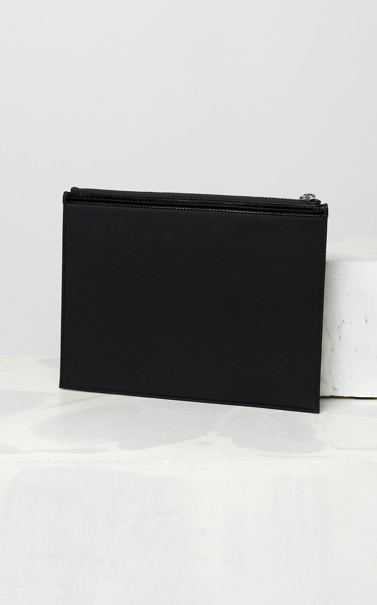 BLACK A4 KENZO Logo clutch for women