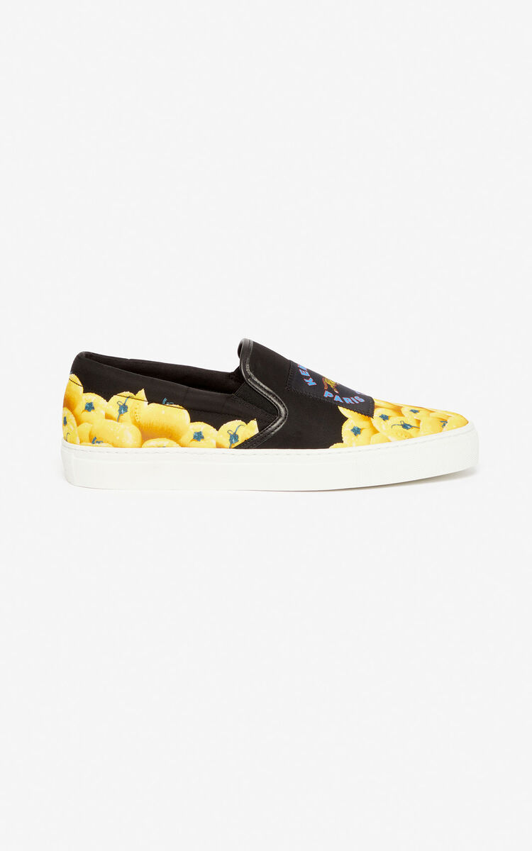 BLACK 'Tomato' slip-ons for women KENZO