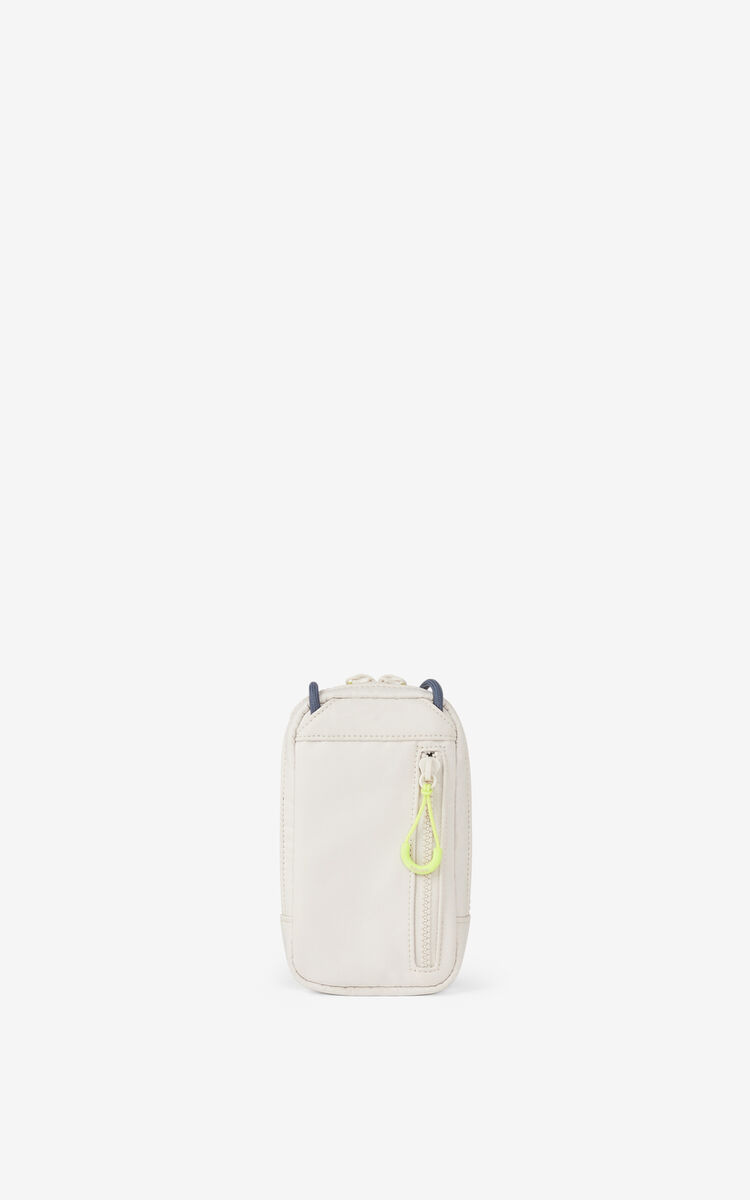 PALE GREY KENZO Sport phone holder with strap for men