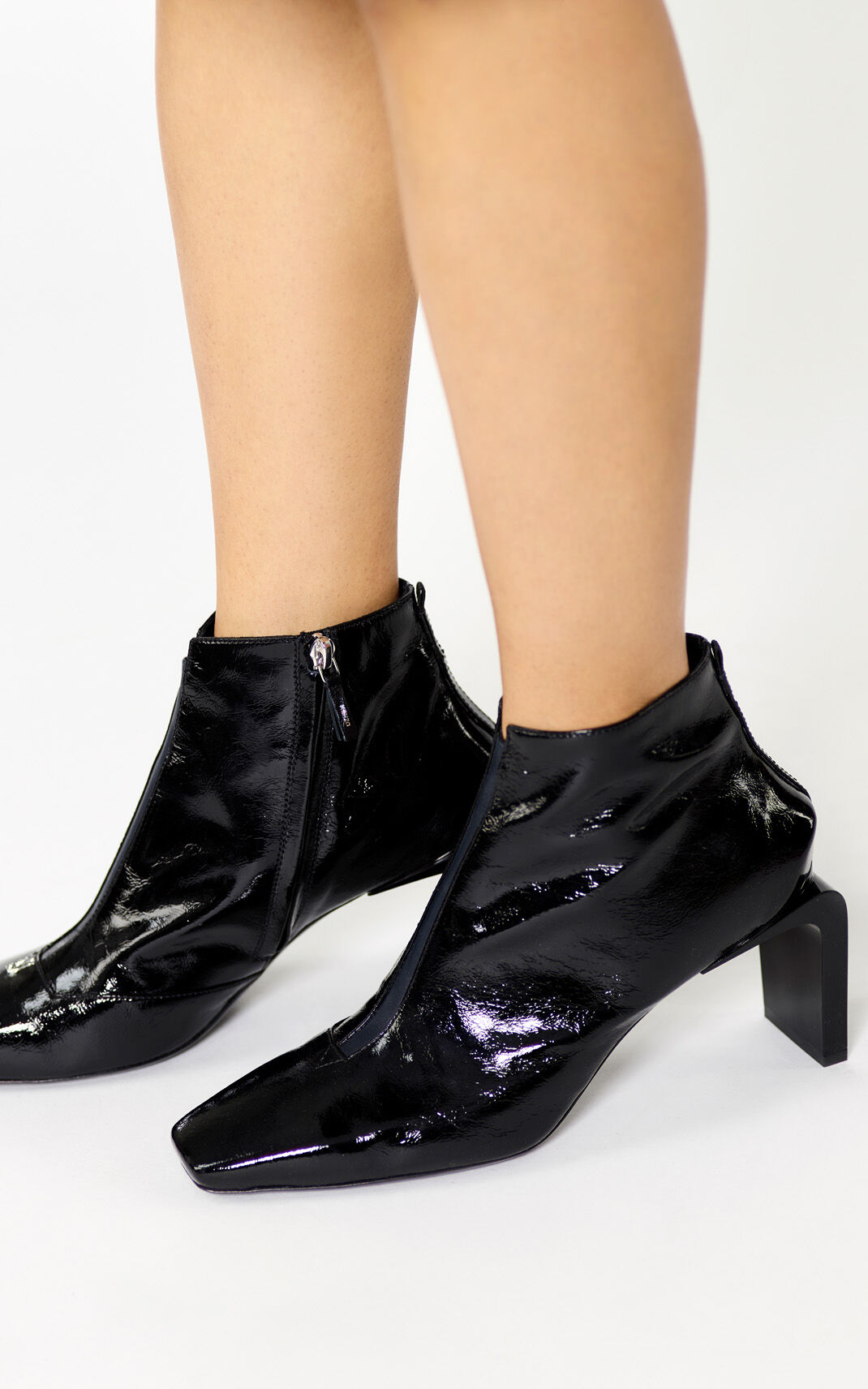 BLACK Heeled Loa Boots for women KENZO