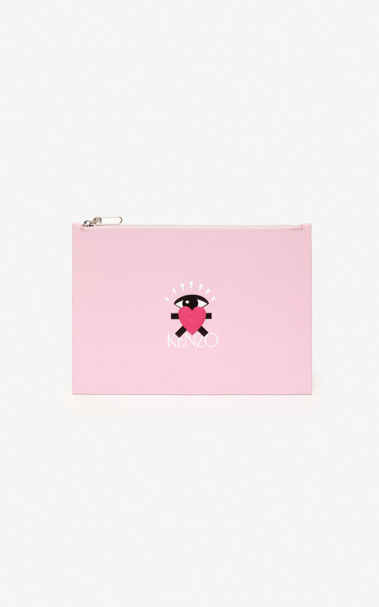 FLAMINGO PINK A4 'Cupid' pouch for men KENZO