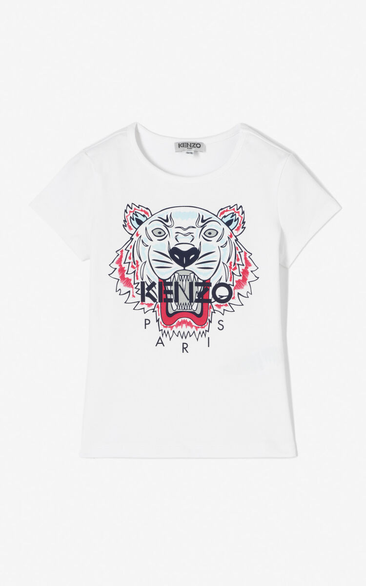 WHITE Tiger t-shirt for global.none KENZO