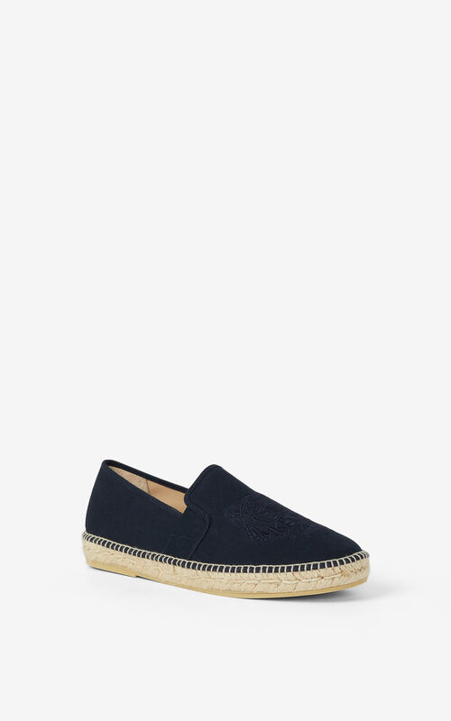 NAVY BLUE Tiger stretch canvas espadrilles KENZO
