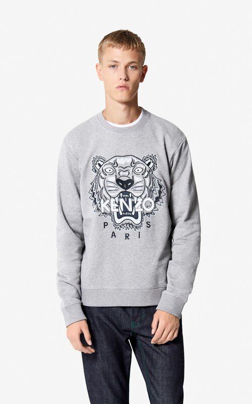 c2bcad295a31 DOVE GREY Tiger sweatshirt for men KENZO ...
