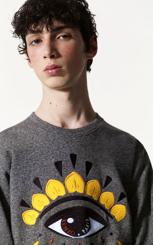 ANTHRACITE Eye Sweatshirt for men KENZO