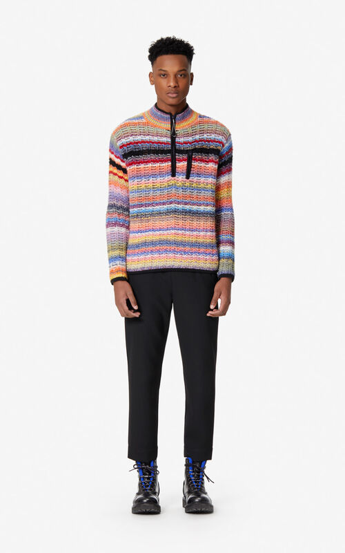 VERMILLION Multi-coloured stripes jumper for men KENZO
