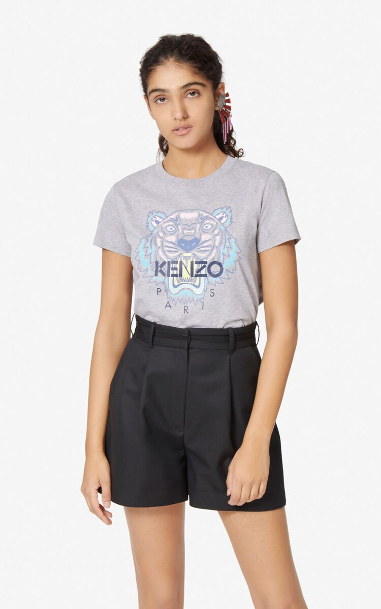 PEARL GREY Tiger T-shirt for women KENZO