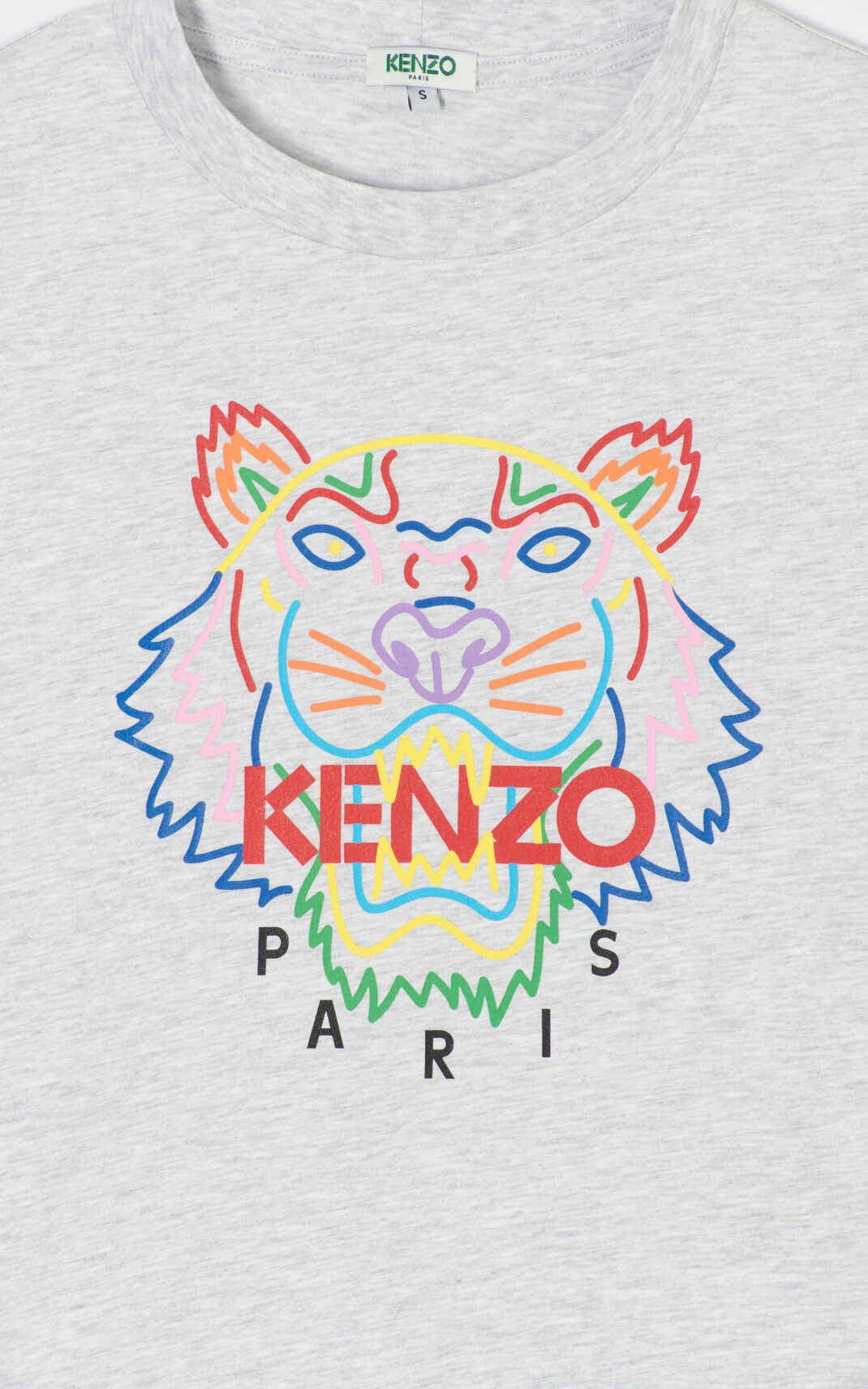 PALE GREY 'High Summer Capsule Collection' Tiger t-shirt for women KENZO