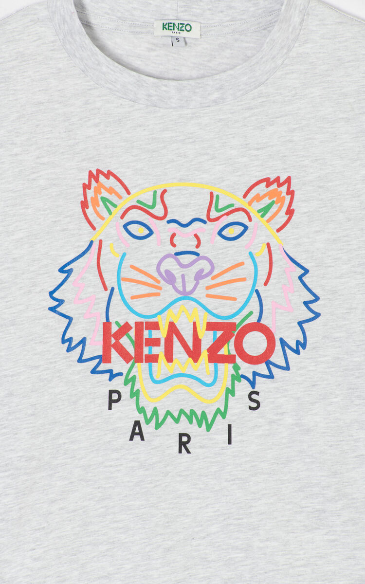 PALE GREY Tiger t-shirt for women KENZO