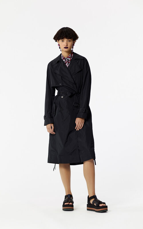 BLACK Oversized trench for women KENZO