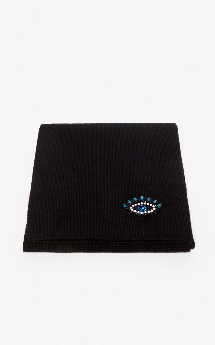 BLACK Eye scarf for unisex KENZO