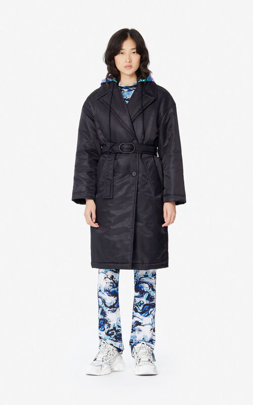 BLACK 'Holiday Capsule' belted coat for women KENZO