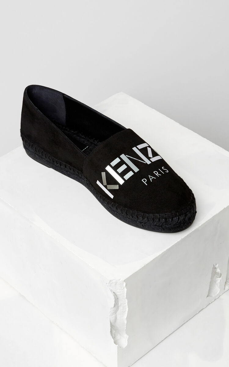 BLACK Mirrored KENZO Espadrille for women