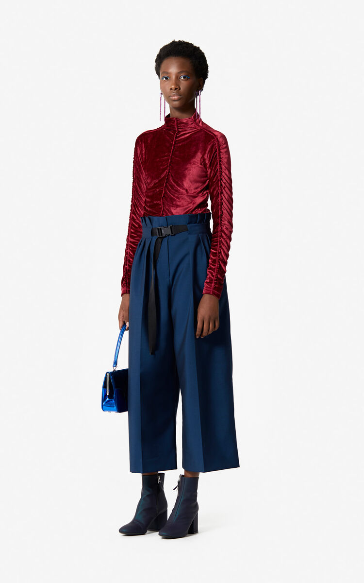 DUCK BLUE Flared trousers 'Holiday Capsule' for women KENZO