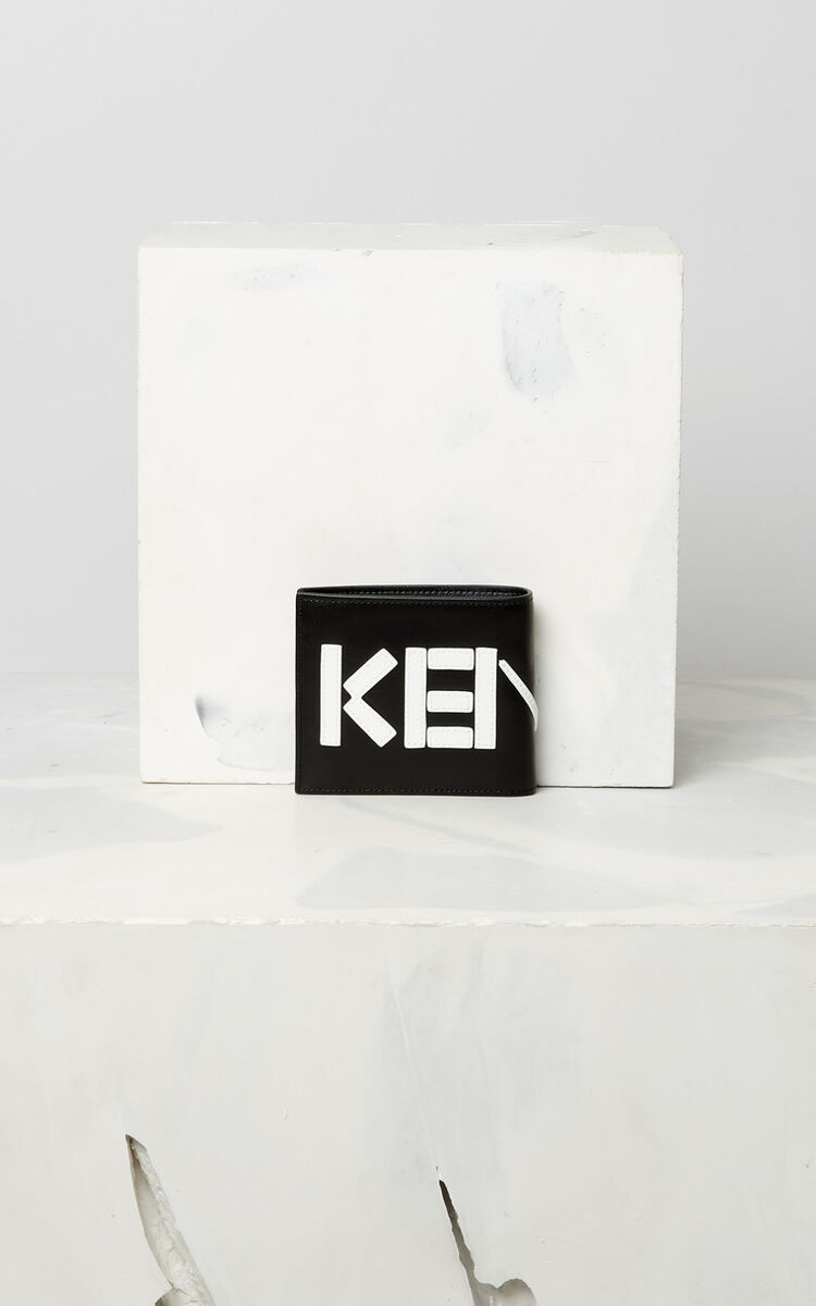BLACK KENZO colorblock wallet for unisex