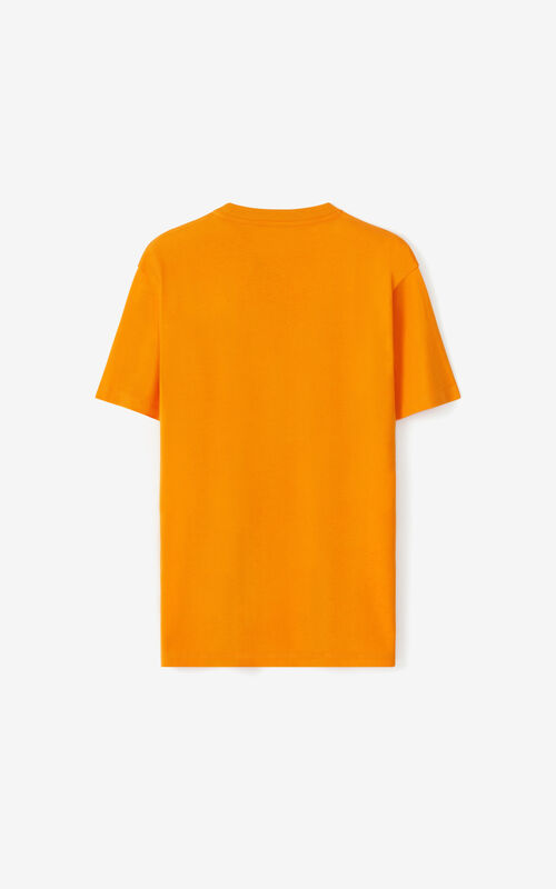 MEDIUM ORANGE K-Tiger oversized T-shirt for unisex KENZO