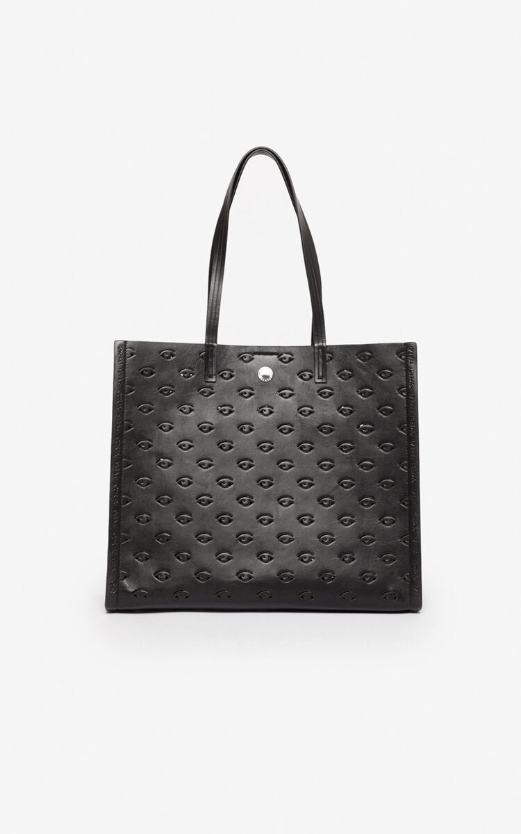 BLACK Multi-Eye Blink tote bag for unisex KENZO