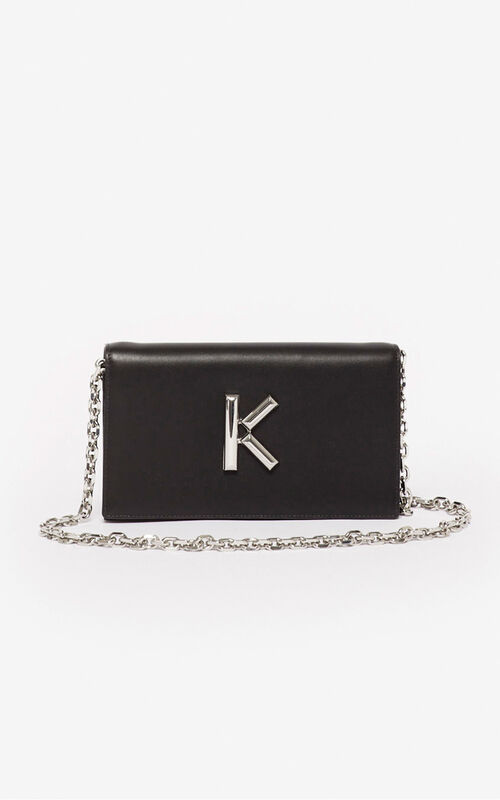 BLACK Wallet on chain Kandy for unisex KENZO