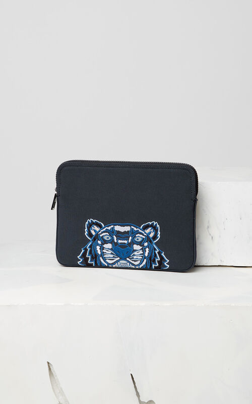 DARK GREY Tiger tablet sleeve for women KENZO