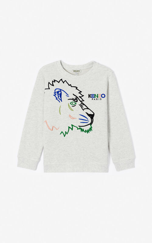 PALE GREY 'Disco Jungle' sweatshirt for men KENZO