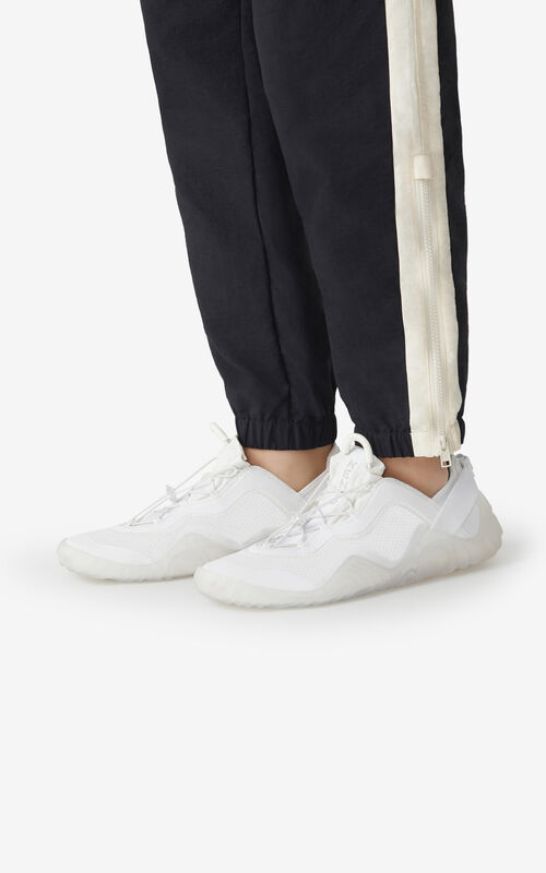 WHITE KENZO Sport Wave mesh trainers for men