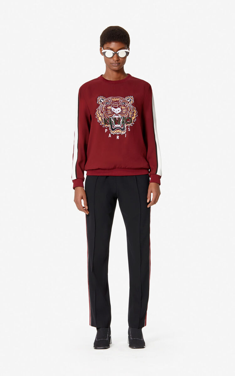 BORDEAUX Crepe Tiger Top for women KENZO