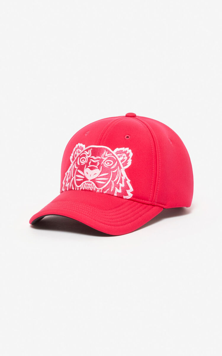 DEEP FUSCHIA Tiger cap 'Capsule Back from Holidays' for women KENZO