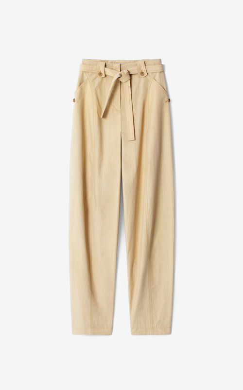BEIGE Belted trousers for unisex KENZO