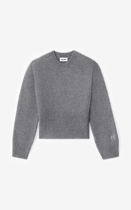 DOVE GREY Recycled cashmere jumper for unisex KENZO