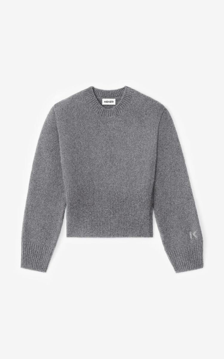 DOVE GREY Recycled cashmere jumper for men KENZO