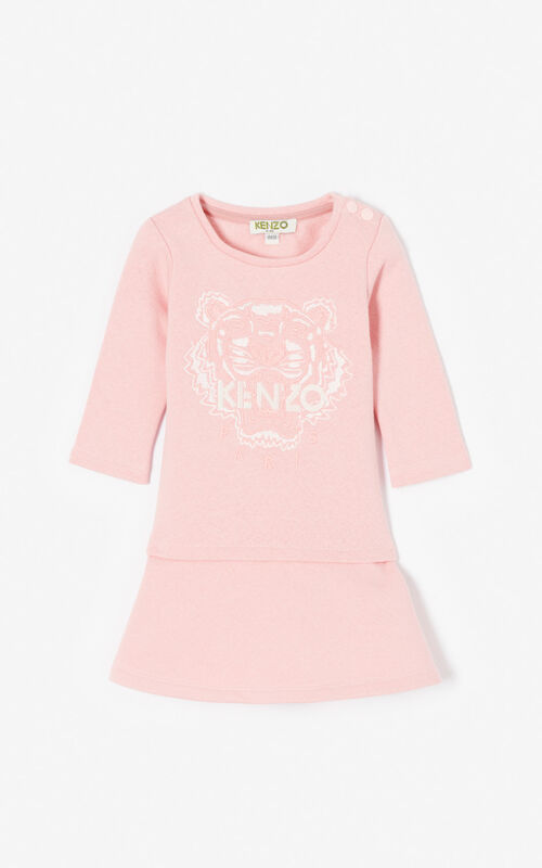 FLAMINGO PINK Flared Tiger dress for unisex KENZO
