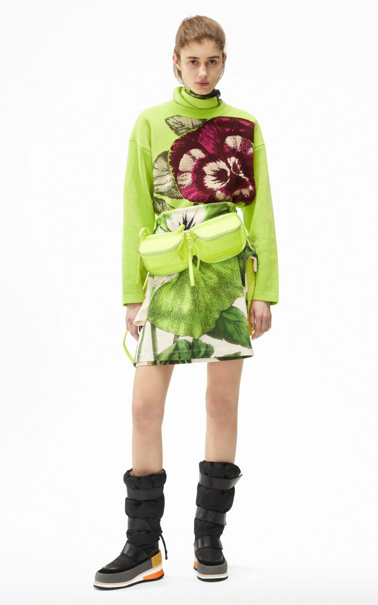 ABSINTHE 'Pansy' printed jacquard jumper for women KENZO