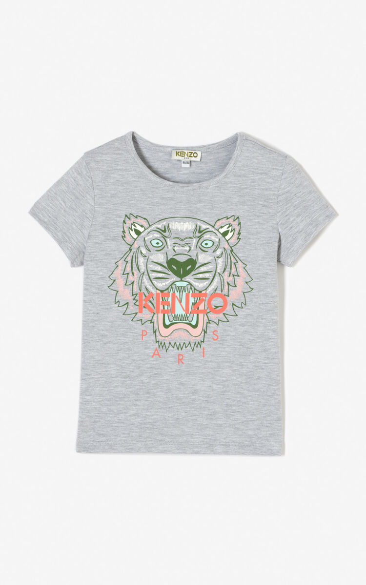 MISTY GREY Tiger t-shirt for global.none KENZO