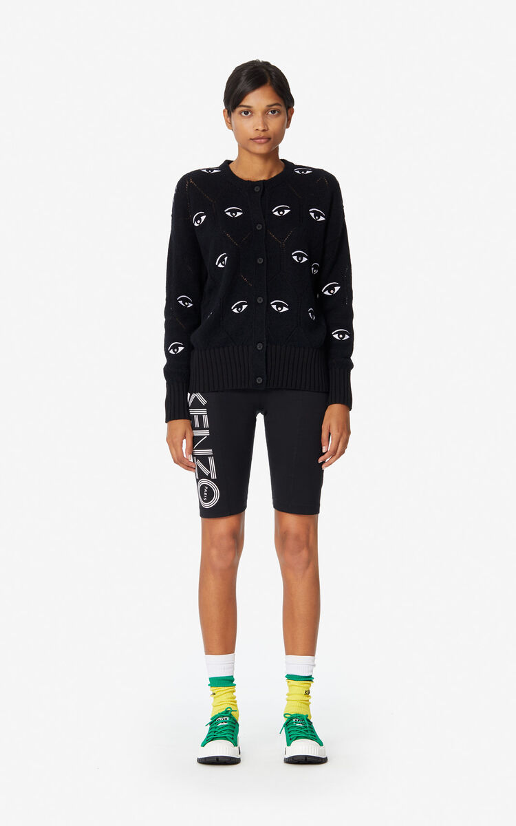 BLACK Multi-Eye cardigan for women KENZO