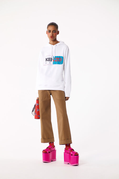 WHITE KENZO Paris Hoodie for women