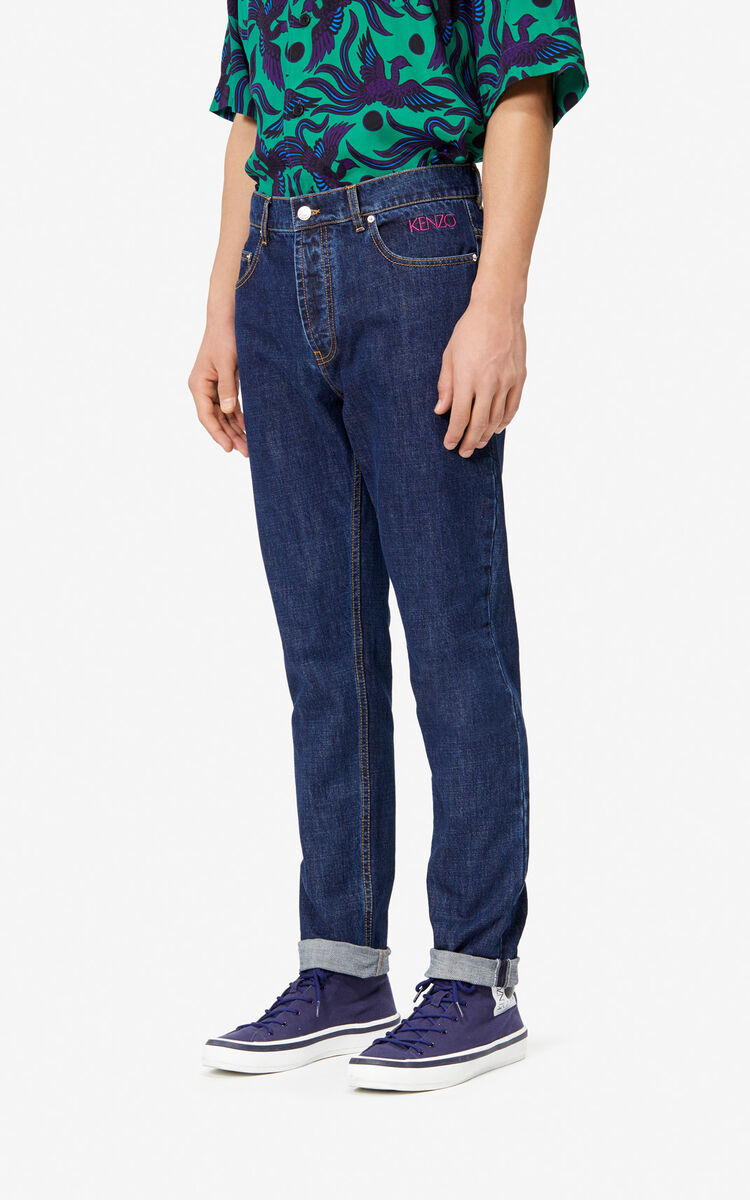 NAVY BLUE Tapered Jeans for men KENZO