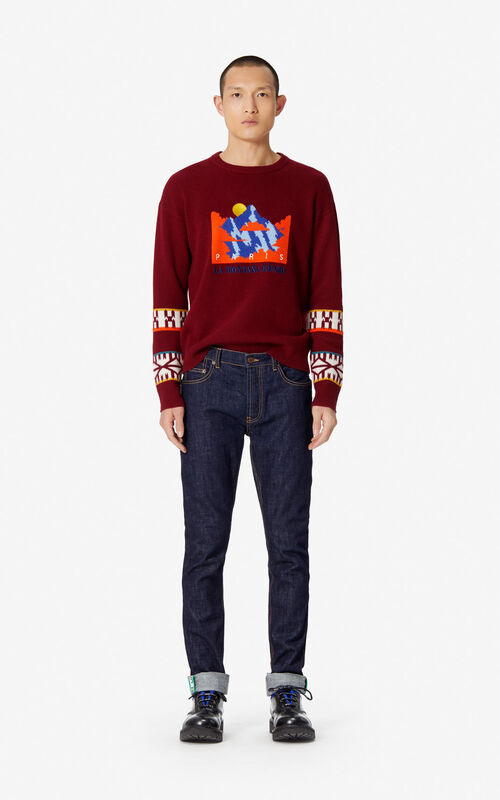 BORDEAUX 'KENZO Mountain' jumper for men